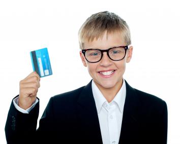 dítě a kredtiní karta