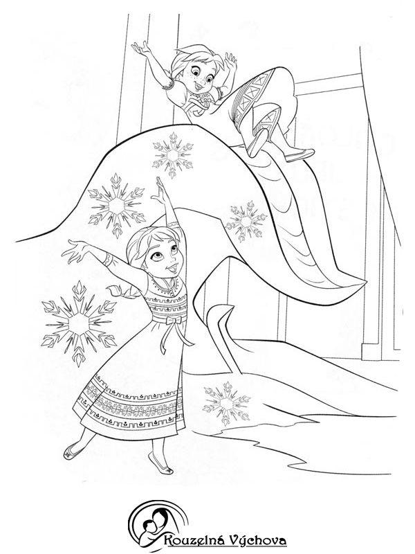 Omalovánky k vytištění - Frozen a Big Hero