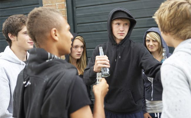 Puberťák se chytl špatné party