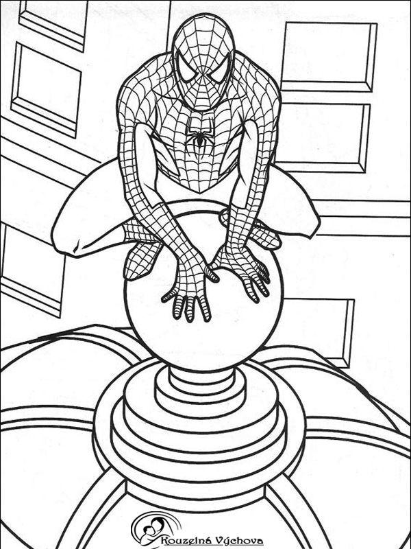 Omalovánky k vytisknutí - SPIDERMAN