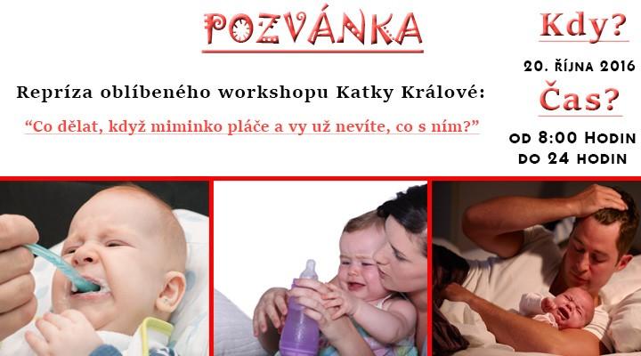 Online webinář - Co dělat, když miminko pláče a nedá se uklidnit?