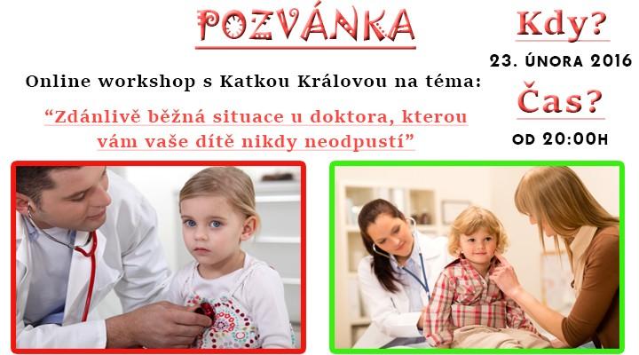 Webinář zdarma - Jak zvládat návštěvy s dětmi u lékaře?