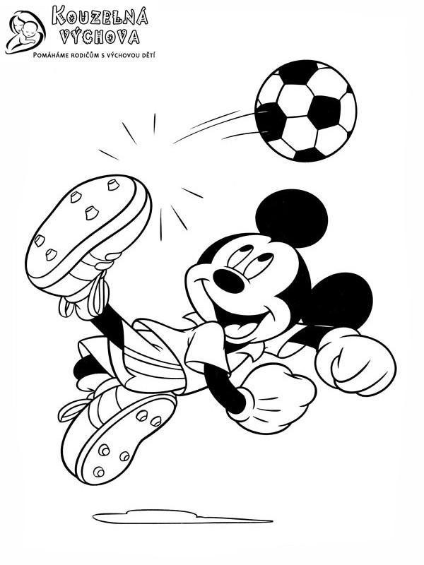 mickey mouse omalovánka 7
