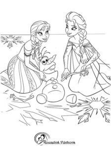 Omalovánky Frozen 9