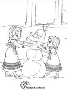 Omalovánky Frozen 1