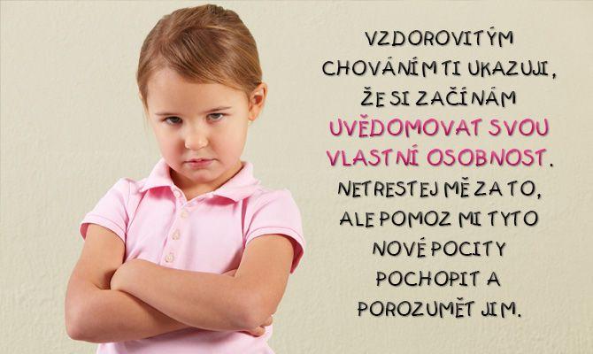 Vzdor je jen slovo, kterého se rodiče bojí a děti mu nerozumí