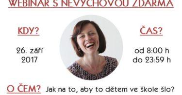 Webinář zdarma - Jak na to, aby to dětem ve škole šlo?
