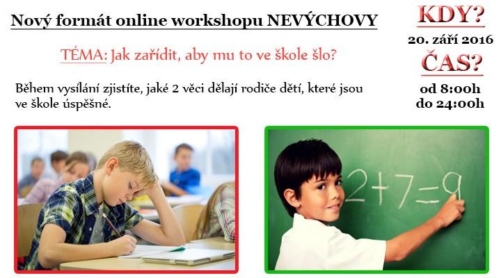 Workshop zdarma – Jak zařídit, aby to dětem ve škole šlo?